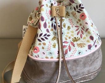 "Bucket bag ""Romance"" spirit country - handbag - Bohemian Sling bag"