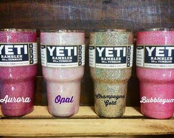 Custom Solid GLITTER YETI