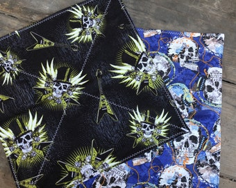 Skulls and Rock - an EDC handkerchief
