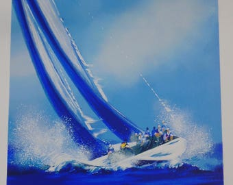 Unframed Sailing by Spahn with Certificate of Authenticity (MM)