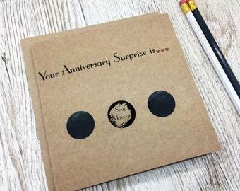 Scratch Card Anniversary Card -Scratch to Reveal Your Anniversary Surprise  - Naughty Anniversary Card - Scratch Card