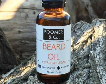Citrus and Cedar Beard Oil