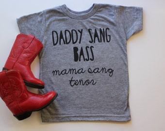 Daddy Sang Bass Mama Sang Tenor- Johnny Cash Toddler (GREY)
