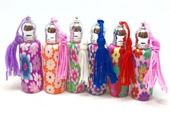 6 Bottles - Essential Oil Roll On Bottle perfume roller bottle 10 ml - Assortment of 6