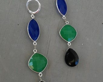 Color Block Gem Earrings