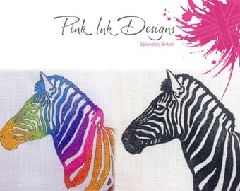 Zebra adult colouring, fabric pattern, paint, embroider, colour.