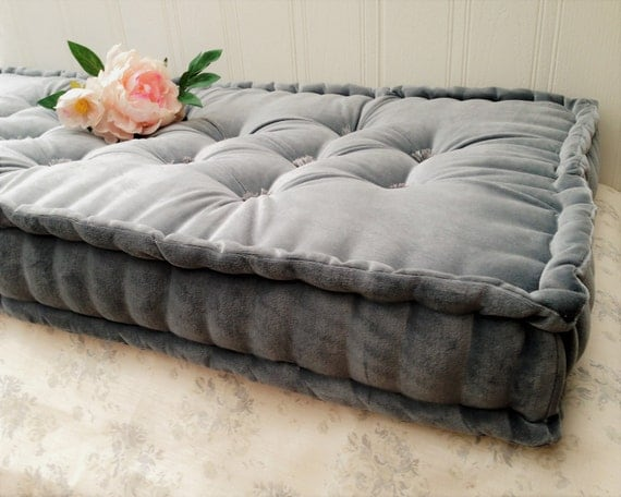 Handmade Velvet Cushion Bench Seat French Mattress Style