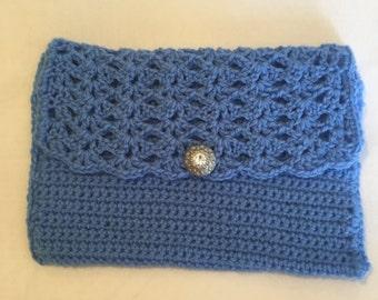 Crocheted clutch
