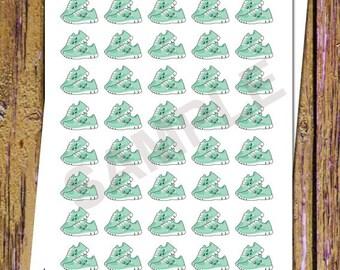 40 Kawaii Running Planner Stickers Running Stickers Fitness Stickers Kawaii Stickers Exercise Stickers Fitness Planner Icon Stickers S48