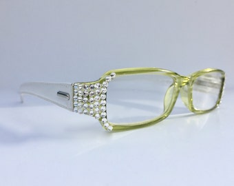 Reading glasses made with Swarovski Crystals  +1.25 +1.50 +1.75 +2.00 +2.25 +2.50