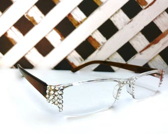 Swarovski Crystal Readers Reading Glasses  +2.50