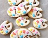 Pastel Paint Palette Sugar Cookies