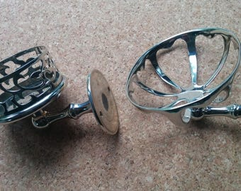 Nickel Plated Shanks 1920s  Soap Dish and Ring / Trinket Holder
