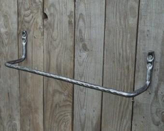 Wrought iron hand  towel bar,  Bathroom Accessories, Wrought iron, Hand forged, Blacksmith, Towel rack, Towel holder, Bath decor