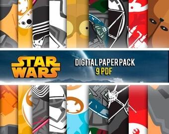 OFFER 90% Off SALE Star Wars Digital Paper Pack