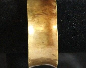 Large Brass Cuff Bracelet (022017-006)