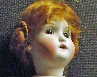 Antique Repro doll, approx. 23.5 cm (3)