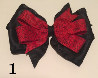 """3.5"""", 4.5"""" and 5.5"""" Valentine's Day Hairbows"""