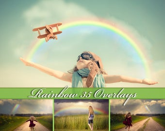 35 Rainbow Overlays Photoshop Rainbow Clip Art Rainbow Overlays Rainbow Photo Overlays Rainbow PNG