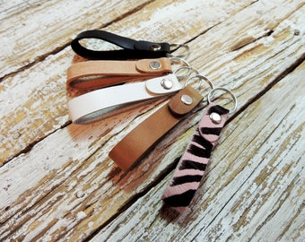 Leather Keychain / Leather Key Fob / Key Holder / Key Ring / Leather Key Strap