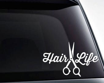 Scissors For Vinyl Etsy - Hair stylist custom vinyl decals for car