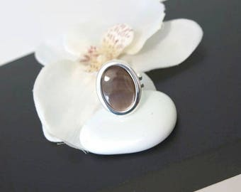Adjustable silver plated with Nacre of Abalone ring