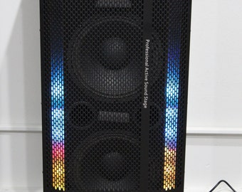 Bluetooth Party Speaker with Lights and Wireless Karaoke Microphone - SP-113BT