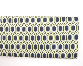 Stenciled Retro Silver - Urban Mod - HALF YARD - Art Gallery Fabric - Cotton Fabric - Quilting Fabric - Honeycomb Tula Fabric