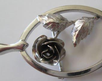 Bond Boyd Sterling Silver Rose Brooch