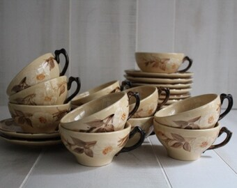 MOVING SALE / Franciscan Cafe Royal Cups and Saucers / Cafe Royal / Vintage Tea Cups / 1970s Tea Cups and Saucers