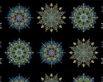 Benartex - Kismet - Blue - Manadals - by Paula Nadlestern - Panel