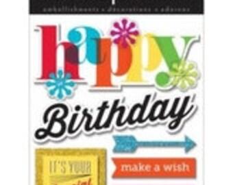 MAMBI soft spoken happy birthday embeelishments
