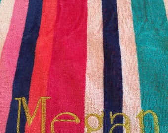personalized oversized beach towel.