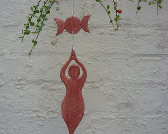 Hand Crafted Large Moon Goddess Triple Moon Wicca Wiccan Hanging Decoration