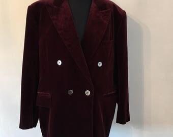 SALE Vintage Turnbull & Asser Velvet Jacket Excellent Condition