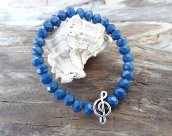 EXPRESS SHIPPING,Crystal Beads Bracelet, Blue Crystal Bracelet, Womens Jewelry, Elegance,Feminine Bracelet, Gift for Her, Mother's day