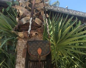 Vintage Swag Fringed Vintage Louis Vuitton Saint Cloud GM Lazy Daisy Bag