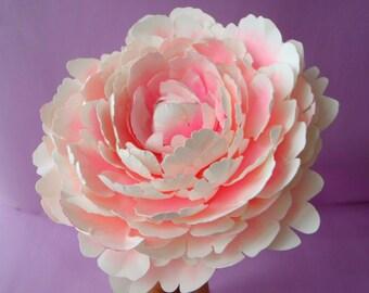 "Printable Peony Templates + Tutorial - Original Size - Paper Flower Templates - PDF - SVG - DIY -  6.2"""