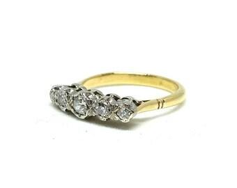 Antique Diamond Ring   Ring size 6.5   Engagement Ring   Victorian Ring   Gold Ring   Antique Diamond Ring   Estate Ring   Five Diamond Ring