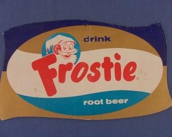 Vintage Frostie Root Beer Cardboard Counter Display Sign