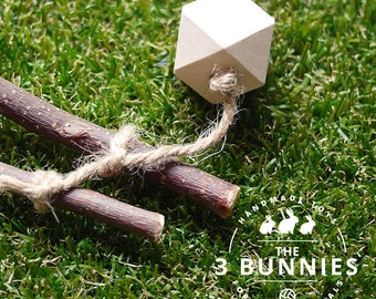 Geometric Wooden Toss Toy - Wooden toys for rabbits, guinea pigs, hamsters and chinchillas. Safe toys for small animals