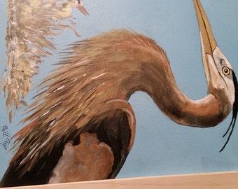 Heron painting