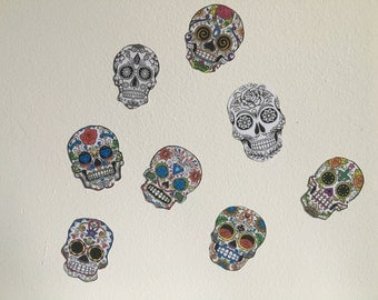 Candy Skull Day of the Dead Stickers Pack