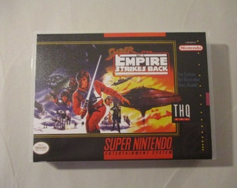 Super Star Wars: The Empire Strikes Back Custom SNES Case (NO GAME)