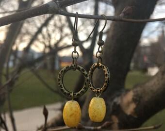 Drop of sunshine earrings