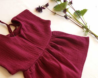 Muslin blouse tunic dress double gauze summer blouse summerblouse