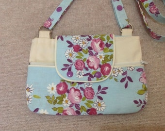 Girl handbag, floral handbag, gift for her, gift for girl