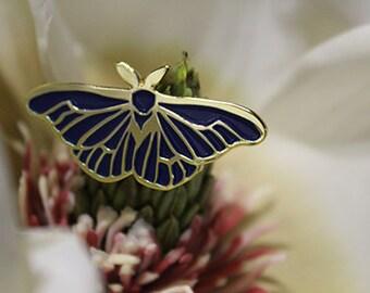 Blue Moth Enamel Pin: Limited Quantity