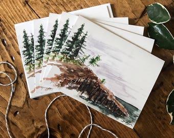 GREETING CARD - Minnesota Card - Minnesota Art - Pine Tree Art - Blank Card - Thank you - Thinking of You - Congratulations