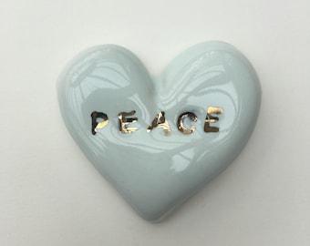 Small ceramic heart